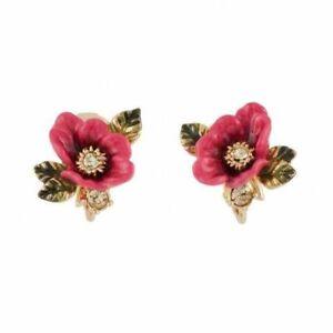 Les Nereides Winter Garden Peony Stud Earrings