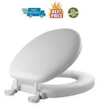 Soft Toilet Seat Easily Remove, Round, Padded With Wood Core, White Cleaning New
