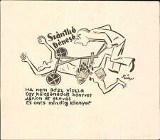 'Denes Szantho'  ex-libris  bookplate JD.59