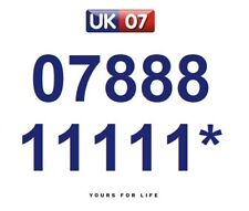 07888 11111* Numbers - Gold Memorable Platinum VIP Numbers, Yours For Life