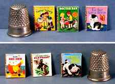Dollhouse Miniature 1:12  6 Little Golden Books Classic Covers nursery book toy