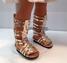"Gold Gladiator Sandals Shoes for 18"" American Girl Doll Clothes Best Selection"