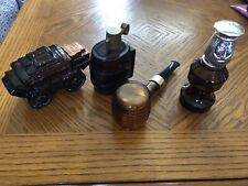 Vintage Avon Aftershave Bottles Stagecoach Keg Pipe Chess Piece Lot Of 4