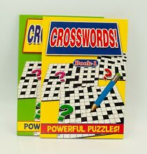 A5 Crosswords Puzzles Books - Over 130 Puzzles and Solution Large