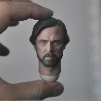 """Delicate Painting 1/6 Star Wars Elderly Luke Skywalker Head Sculpt Fit 12""""Figure"""