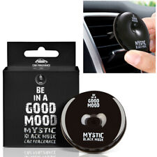 1 Black Musk Car Air Freshener Scent Vent Clip Auto Home AC Natural Fragrance