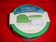 CORELLE CALLAWAY 6PC STORAGE BOWL SET NEW IN BOX FREE USA SHIPPING