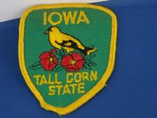 IOWA TALL CORN STATE GOLDFINCH BIRD WILD ROSE PATCH SOUVENIR COLLECTOR BADGE