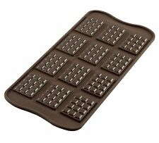 Silikomart Silicone Chocolate Mould Tablette, Brown