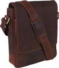 UNICORN Real Leather iPad, Kindle, Tablets & Accessories Messenger Bag Tan #7F