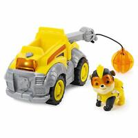 Paw Patrol Rubble Deluxe Vehicle Mighty Pups Construction Truck Lights Sounds
