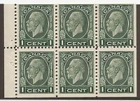 CANADA #195b MINT BOOKLET PANE F/VF NH