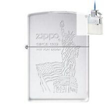 Zippo 0298 usa flag statue of liberty Lighter & Z-PLUS INSERT BUNDLE