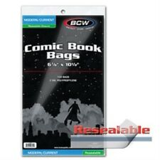 Pack of 100 Bags BCW Resealable Current Comic Bags 6 7/8 x 10 1/2 (#CS57)