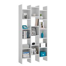 Estantería librería salón comedor, estanteria triple Blanco, Italian