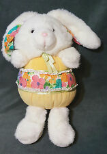 Vintage Sample Chosun Plush Plump Bunny Rabbit Chime Rattle Stuffed Animal 14""