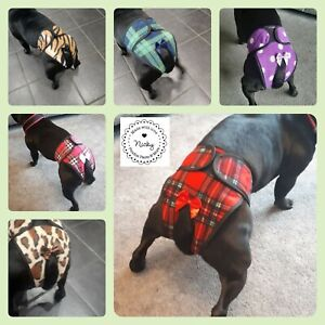 Dog nappy female Hygiene Knickers by Poochiepants  MADE TO ORDER