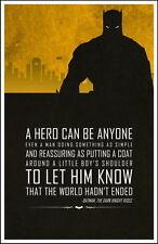 "010 Motivational Inspirational - Batman Hero Motivational Quote 14""x22"" Poster"