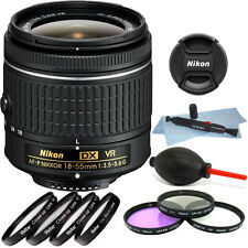 Nikon 18-55mm f/3.5 - 5.6G VR AF-P DX Nikkor Lens + 55mm Top Accessory Kit
