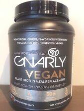 Gnarly Nutrition - Vegan Meal Replacement Powder  Chiseled Chocolate- 32oz- 2lbs