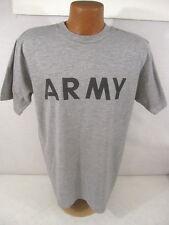 US Army Gray Cotton Physical Fittness Short Sleeve Tee Shirt T-Shirt Size Medium