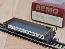 BEMO 2263 124 bassa bordo carrello Barit AG DELLA Rh. B./MATTONCINI/OVP/traccia h0m