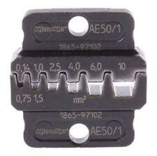 Klauke Crimp Die Set, Open Barrel Terminal, Wire size 0.14 → 10 mm², Coaxial