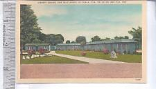 1930s-50s unused LINEN post card LIBERTY CABINS, OCALA, FL ON 301