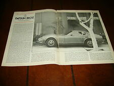 1974 DATSUN 260Z   ***ORIGINAL ARTICLE / ROAD TEST / SPECIFICATIONS***
