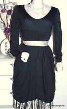 NOA - Vestido Túnica - Visual Viscosa - TALLA XS / 34 - fantasma gris negro