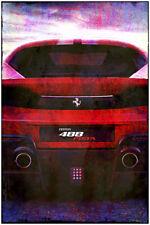 "Ferrari Pista 448 Abstract Grunge Art Print Poster Garage Poster Large 24"" x 36"""
