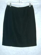Liz Baker Black Lined Skirt Size 12 NWOT