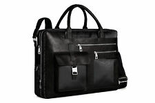 Piquadro Frame black expandable computer briefcase w/ 2 pouch CA1429FR/N
