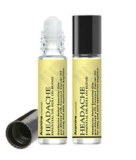 Headache Relief Essential Oil Roll On, 2 Pack, Pre-Diluted 10ml by Aromine