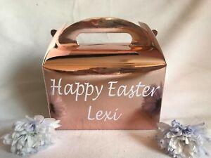 Personalised Rose Gold Easter Gift Box Easter Egg Hunt Easter Activity Basket