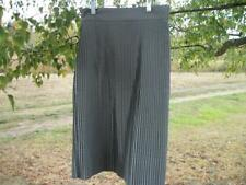 A 20S LOOK DONE IN MODERN STYLE BEAUTIFUL TINY ACORDIAN PLEATS GREY SATIN SKIRT,