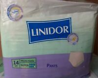 56 Pannoloni,per adulti linidor pants super misura media 4x14pz per incontinenza