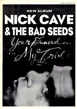 "8/11/86pg5 Album Advert 15x10"" Nick Cave & The Bad Seeds, Your Funeral My Trial"