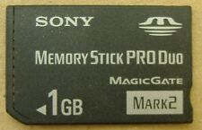 Genuine Sony MS-MT1G 1 GB Memory Card Stick Pro Duo MagicGate Mark 2 US Seller