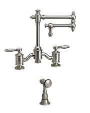 """Waterstone 6100-12-1-UPB Towson Bridge Faucet - 12"""" Articulated Spout"""