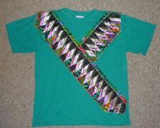 "Vtg Los Angeles LA ATTITUDE Teal Green "" Y "" Design T-SHIRT Size Adult XL Cool!"