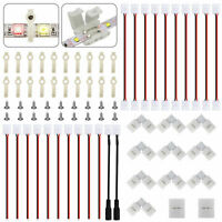 54Pcs RGB LED Strip Light Connector Cable Accessories Kit For 3528/2835 8mm 2Pin