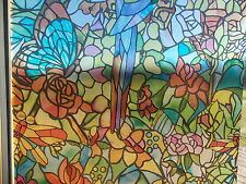 FROSTED FLOWER STAINED GLASS WINDOW STICKY BACK PLASTIC SELF ADHESIVE VINYL FILM