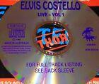 Elvis Costello Live Vol. 1 Australian CD 93 Super Rare Less Than Zero Pump It Up
