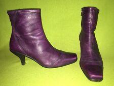Purple La Canadienne Ankle Boots 8