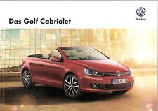 Prospekt / Brochure VW Golf Cabriolet 05/2013 mit Preisliste