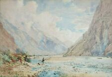 Original watercolor by Quebec artist Charles Jones Way
