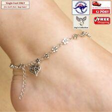 Elegant Silver Flower Barefoot Beach Anklet Bracelet Foot Jewelry [A6U~B33]