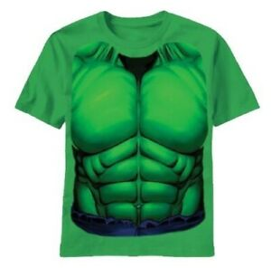 Adult Men's The Incredible Hulk Comic Book Movie Green Costume T-shirt Tee