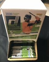 2020 Donruss Baseball Gravity Feed Box 36 Unopened Packs NEW! Yellow Parallels!
